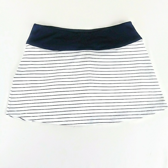 25368694f1 bolle Dresses & Skirts - Bolle Navy Striped Tennis Skirt Kick Pleated Back